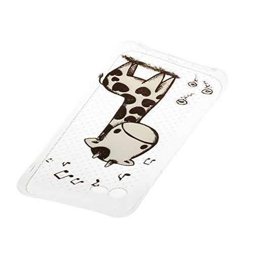 iPhone 7 hülle Case Cozy Hut Ultra Hybrid TPU Bumper for iPhone 7 Hülle Schutzhülle Shock Absorption Plating TPU Case Silicone Cover für iPhone 7 (4,7 Zoll) (2016) - Kleine Qualle Giraffe