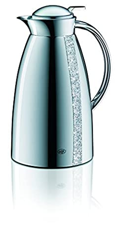 Alfi Gusto Metall 3522905100 Isolierkanne 1 Stück (1 Liter, 14 x 15 x 26 cm) silver line