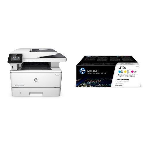 Preisvergleich Produktbild HP LaserJet Pro M426fdn Laserdrucker Multifunktionsgerät (Drucker, Scanner, Kopierer, Fax, LAN, Duplex, HP ePrint, Airprint, USB, 4800 x 600 dpi) weiß mit passenden Original Tonern