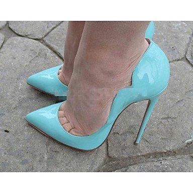 Moda Donna Sandali Sexy donna estate tacchi Peep toe PU Casual Stiletto Heel altri nero / blu / Giallo / Rosso Altri Black