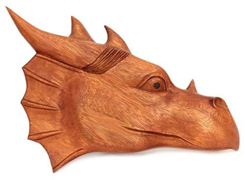 Windalf Wandbild Drache MAJESTIX b: 29 cm rechts schauend Handarbeit aus Holz