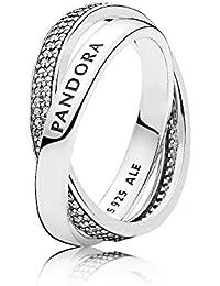Pandora Women Silver Piercing Ring - 196401CZ-54 bSdu7eJm