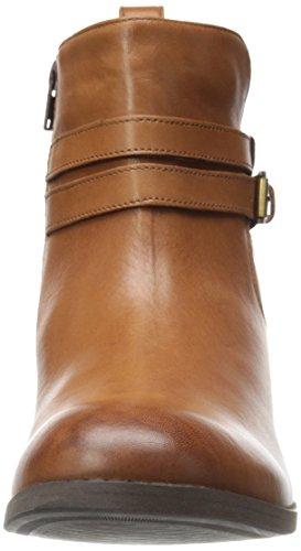 Clarks Pita Austin Boot Western Dark Tan Leather