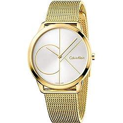 Calvin Klein Reloj Analogico para Hombre de Cuarzo con Correa en Acero Inoxidable K3M21526