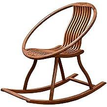 XUE Mecedora, sillón cómodo sillón terraza balcón Vieja Silla Relax Madera Maciza Siesta sillón reclinable