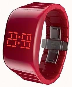 o.d.m. Unisex-Armbanduhr illumi+ Digital Automatik Kunststoff rot DD133-2