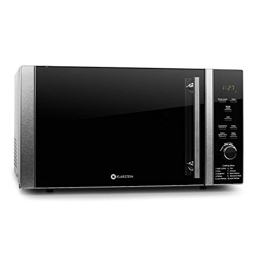 418Io8OjEpL. SS500  - Klarstein Luminance Prime Microwave with Grill - Compact, Glass Turntable and Grill, 900W Microwave, 1000W Grill, 28 l, 12 Automatic and Combination Programs, Stainless Steel