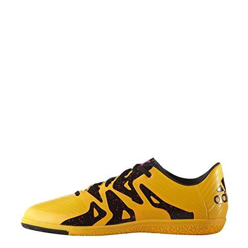 adidas X 15.3 In J, Chaussures de Foot Mixte Bébé Naranja / Negro / Rosa (Dorsol / Negbas / Rosimp)
