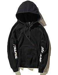 ZEARO Sweatshirt Casual Trousers Herren Hoodie Jogging Bottoms mit Aufdruck Pullover Fitness Slim fit Hip hop Streetwear Baumwolle