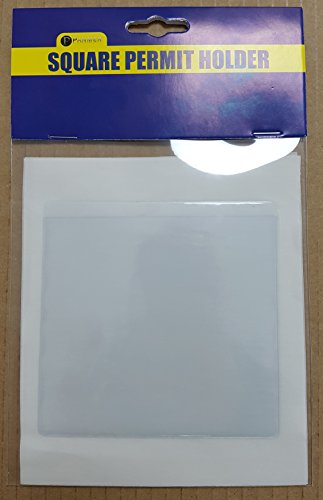 Square Permit Holders Pack of 4