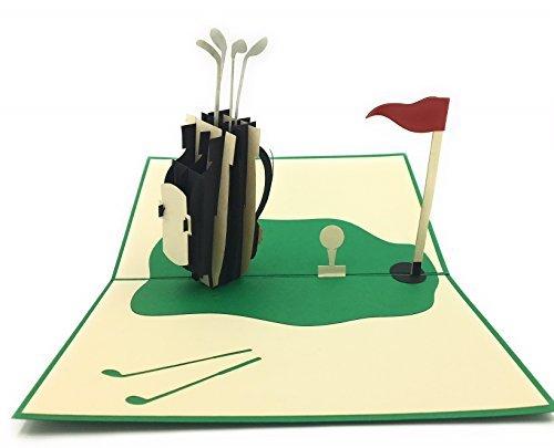 Golf Liebhaber und Enthusiasten Einzigartige Pop-Up-Karte. Für Eltern oder Großvaters Bday, Mitarbeiter und Retirement