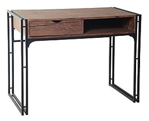Ts ideen bureau design table console table de travail bureau informatique finition bois mdf et - Console informatique design ...
