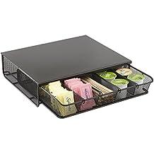 Safco 3274BL Onyx - Organizador de productos de hostelería de cortesía, de malla metálica, con 1 cajón, color negro