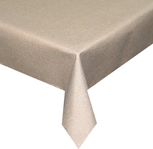 Silver Tischdecke hell braun 110x 110cm quadratisch Lotuseffekt, abwaschbar, Schmutz- und Wasserabweisend, eckig - Größe, Farbe & Form wählbar (Rund Eckig Oval)