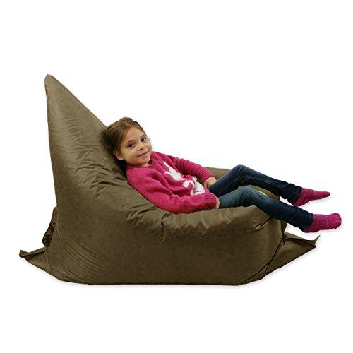 Puf grande para niños, de 6 posiciones, para exteriores, color marró