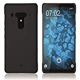 PhoneNatic Case kompatibel mit HTC Exodus 1 - Hülle schwarz gummiert Hard-case Cover