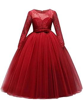 Niña Maxi Vestidos Largo Dama De Honor Boda Flor Vestir Paseo Fiesta Comunión Baile Pelota Vestido Tul Vestir...
