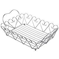 HXRYFC Stainless Steel Fruit Basket Fruit Bread Basket, Living Room Fruit Bowl Drain Basket Fruit Storage Basket Candy Plate Bread Basket
