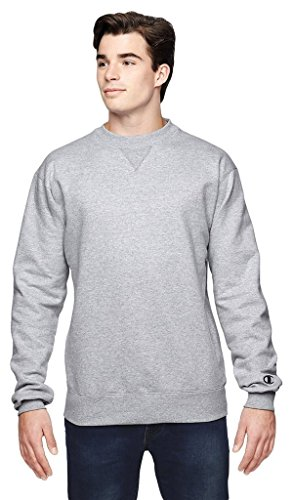 Champion Mens Cotton Max Crew Athletic chiné