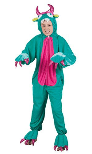 Monster Kostüm Kinder Karneval Halloween Fantasy Märchen Mädchen-kostüm Jungen-Kostüm inkl. Plüschkappe Größe 140