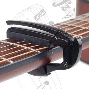 "Negro ""SNAPLOCK"" Capo para guitarra acústica / eléctrica (modelo: GP006) por surepromise"