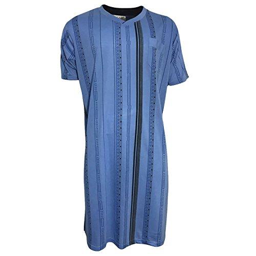 Lavazio Herren Pyjama Schlafanzug Shorty 2 Teiler T Shirt Uni Hose im Karolook kurz 2 TLG in 5 Farben Exclusiv