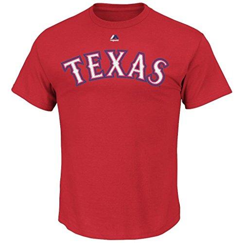 MLB Hombre Big y de altura Team Wordmark II camiseta de algodón cuello redondo (5x l, Texas Rangers)