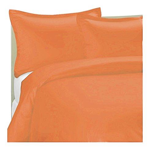 marrikas 1500Class Mikrofaser Twin Twin Extra Lang Solid Bettbezug Set Twin XL Orange (Orange Bettbezug Twin)