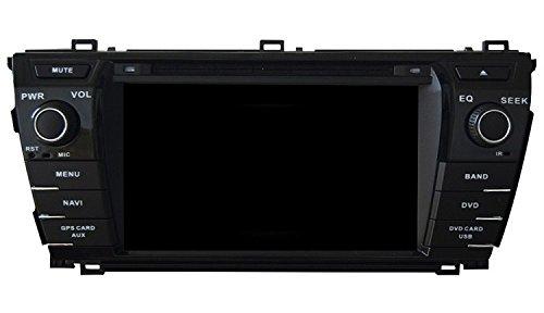 Gowe Android Kapazitive GPS Navigation 17,8cm Auto DVD-Player für Toyota Corolla 2013-2015mit Bluetooth/RDS/3G/WIFI/iPod/SWC/Mirrorlink