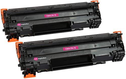 2 INK INSPIRATION® Premium Toner für HP Laserjet Pro P1102 P1102W M1212NF M1213NF M1217NFW MFP CE285A Canon I-Sensys LBP-6000 LBP-6018 LBP-6020 LBP-6020B MF-3010 CRG 725 | 1.600 Seiten (M1212nf Hp Drucker)