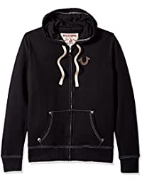 08efe4aca True Religion Men s Buddha Logo Zip Hoodie Hooded Sweatshirt