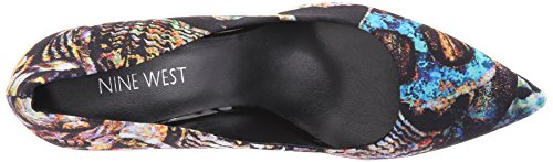 Pompa Nine West lino tessuto Dress Black/Multi