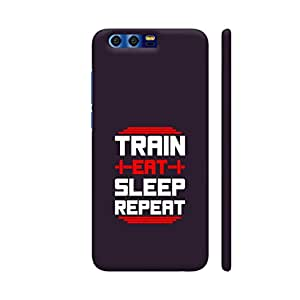 Colorpur Train Eat Sleep Repeat Artwork On Huawei Honor 9 Cover (Designer Mobile Back Case) | Artist: Designer Chennai