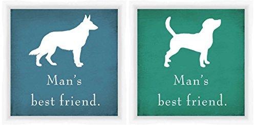 PTM Bilder 6–5184Brautkleid A Man 's Best Friend Luxus Rahmen, 14x 35,6cm, Weiß, 2Stück