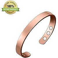 BYEONE Magnetische Reine Kupfer Rose Gold Arthritis Behandlung Armbänder mit Super-Magnete für Karpaltunnel Migräne... preisvergleich bei billige-tabletten.eu