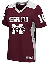"""Mississippi State Bulldogs Women's NCAA """"Endo"""" Fashion Football Jersey Maillot"""