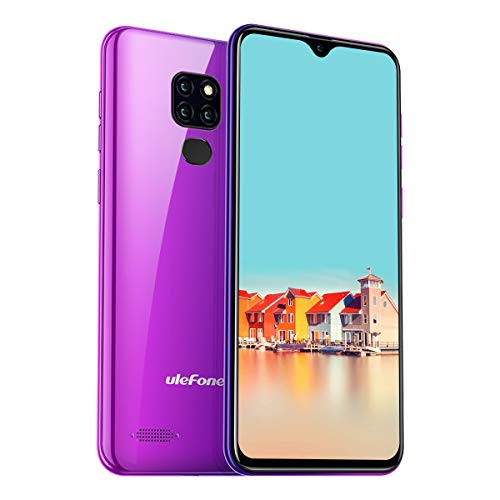 Ulefone Note 7 (2019) Smartphone DREI Kameras DREI Kartensteckplatz, 6,1 Zoll Display, 16 GB Speicher Dual SIM Android Handy Günstig, Face Unlock, 3500mAh - Twilight (Global Version) -