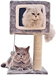 Mumoo Bear Cat Climbing Frame Square Toy Tree, Grey