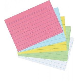 2.000 herlitz Karteikarten Din A8 farbig sortiert liniert (20x 100 Stück)