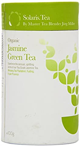 Solaris Tea Organic Loose Whole Leaf Jasmine Green Tea 100
