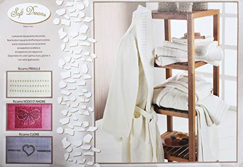Russo tessuti set completo bagno 10 pezzi barocco spugna colore lui lei 100% cotone piume