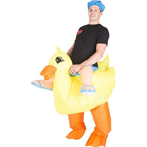 Kostüme Halloween Tier Reit (Aufblasbares Entenkostüm für)