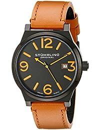 Stührling Original 454.3355K1 - Reloj analógico para hombre, correa de cuero, color beige