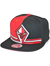 Gorras Chicago Bulls Short Split Black Red Snapback - Mitchell   Ness 67d8b9ff791