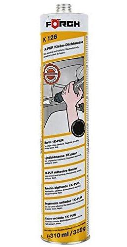 Preisvergleich Produktbild FÖRCH 1K-PUR Klebe Dichtmasse K126 Spoilerkleber Karosseriekleber SCHWARZ 310ml