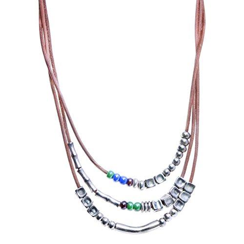 collar-cuero-color-natura-en-plata-y-porcelana-en-varios-colores