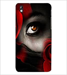 PrintDhaba Eye D-5060 Back Case Cover for HTC DESIRE 816 (Multi-Coloured)