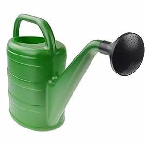 Gießkanne 5l grün mit Brause Kunststoff Blumengießkanne Gartenbewässerung