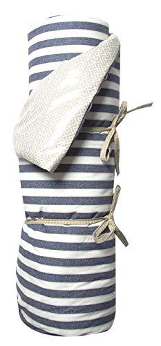 A.U MAISON Picknickdecke Twillight 140x180cm blau weiß mit Streifen