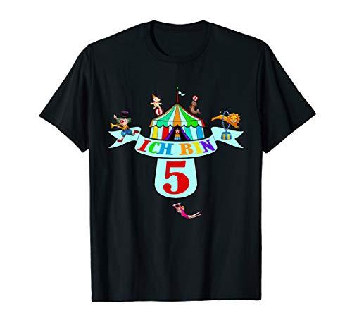 Niedliches Kostüm Frauen Löwen - Kindergeburtstag Clown Shirt zum 5. Geburtstag Lustig Zirkus
